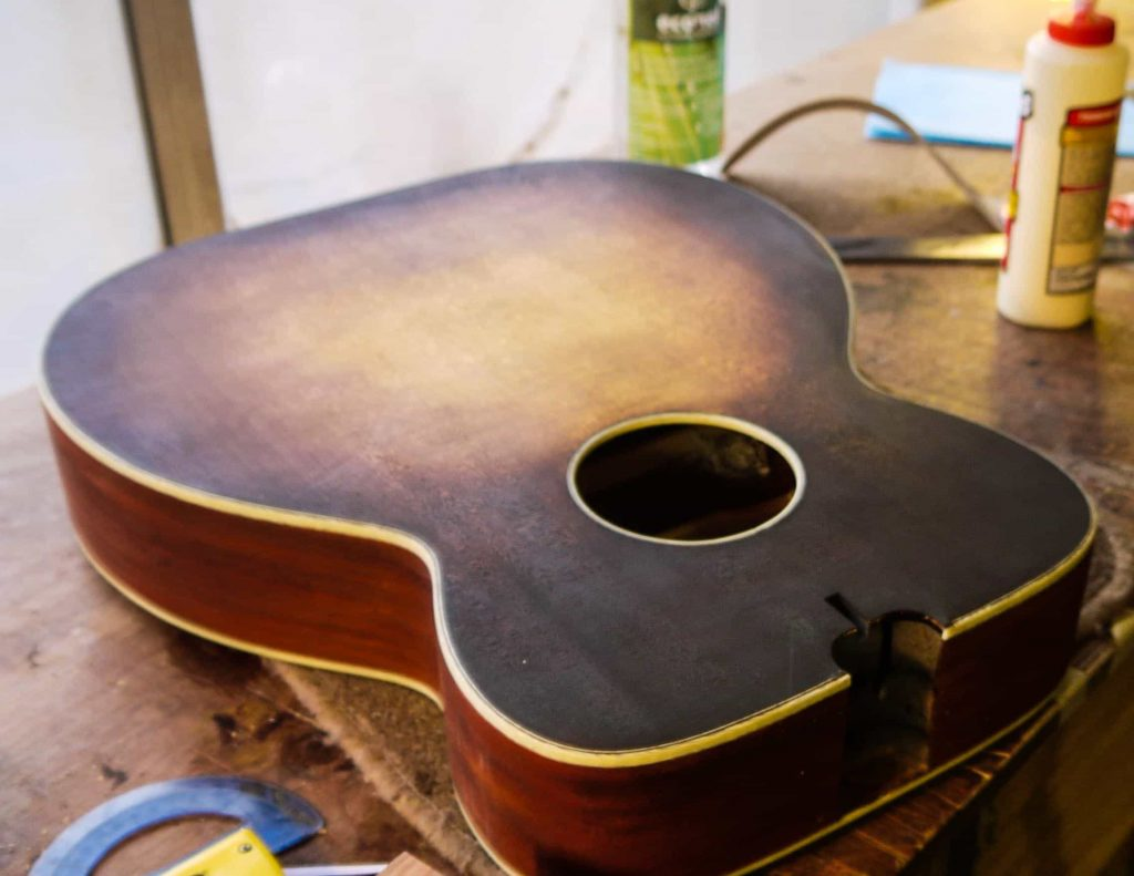hand rubbed sunburst