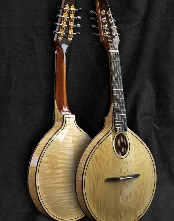 a style mandolin, front and back