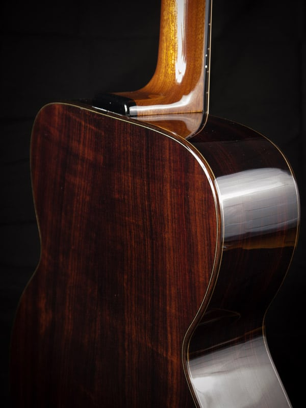 upgraded Indian rosewood back and sides