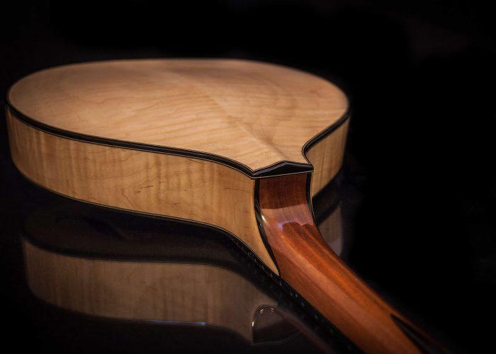 Celtic F mandolin neck joint
